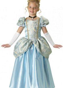 Vestido de Natal Cinderela para meninas no chão