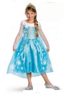 Vestido de ano novo a Cinderela para a menina azul