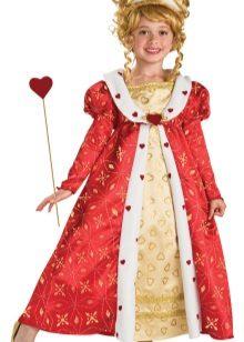 Vestido de ano novo da princesa para a menina