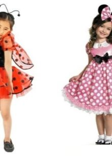 Vestidos de Ano Novo para a menina Miniya uma joaninha