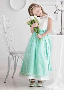 Vestido de ano novo para a menina de hortelã