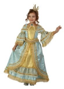 Vestido de ano novo da princesa para a menina longa