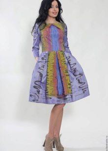 vestido brilhante de tafetá