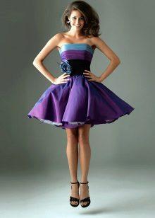 vestido de tafetá fofo