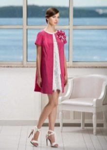 vestido de noite com vestido de tafetá de algodão