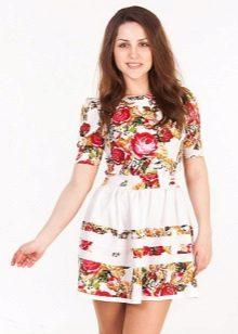 vestido de verão feito de tafetá de algodão