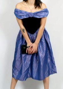 misturar vestido de tafetá viscose