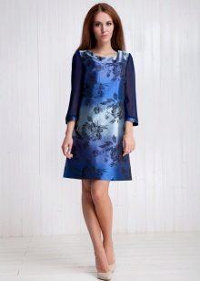 vestido elegante feito de tafetá de viscose