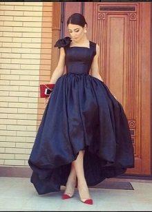 vestido de baile de tafetá