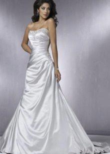 vestido de casamento de tafetá lacônico