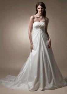 Tafetá Bustier Vestido De Noiva