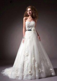 tafetá vestido de noiva com renda