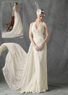 vestido de noiva com tafetá