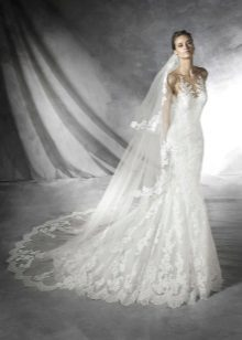 tafetá vestido de noiva com ombros abertos