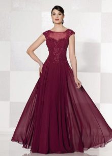 tyylikäs mekko, violetti tafti