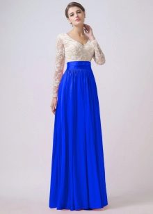 vestido de tafetá cor ultramarine