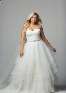 vestido de noiva cheio de tafetá