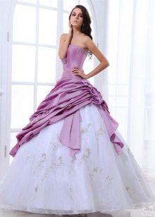 vestido de casamento de tafetá colorido