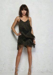 Черна рокля мини
