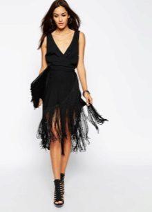 Suknelė juoda su pakraščiu