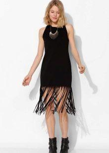 Украса на рокля с ресни