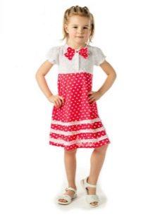 Vestido reto para meninas 5 anos bolinhas