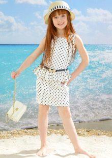 Vestido reto elegante para meninas de 5 anos