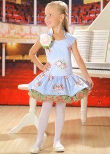 Vestido elegante com saia fofa para menina de 5 anos