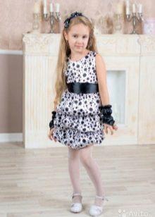 Vestido curto festivo para meninas 5 anos