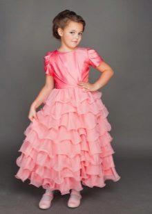 Vestido de formatura para meninas de 5 anos no chão
