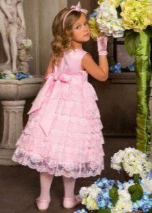 Vestido festivo para meninas 5 anos