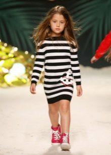 Vestido de malha para meninas 5 anos