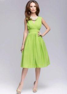 Lime-mekko midi-pituinen sundress