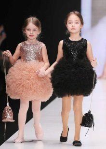 Design inteligente magnífico vestido curto para a menina