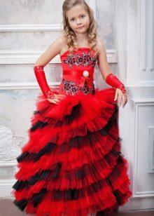 Vestido de bola inteligente multinível para a menina