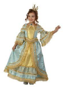 Vestido histórico magnífico chique de Ano Novo para a menina