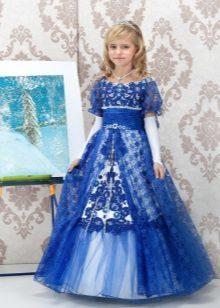 Laço de Natal elegante vestido fofo para meninas