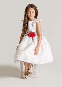 Vestido de casamento elegante fofo curto para uma menina