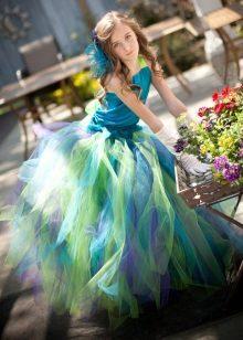 Vestido magnífico inteligente para a menina multi-colorido