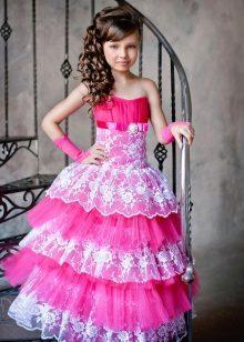 Vestido de baile elegante para meninas com rendas