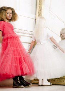 Designer de fofo vestido de menina midi-la chique