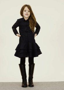 Camisa de inverno para escola para meninas