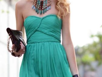 Jóias de vestido turquesa