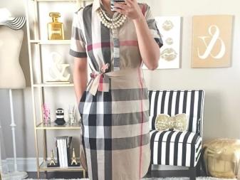 Kleed je in een kooi Barberi (Burberry) voor vrouwen met overgewicht