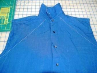 Nyakvonal rajzolása a férfi ingén