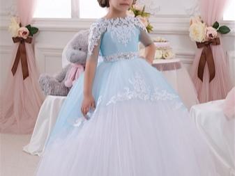 Vestido de noiva elegante fofo com renda para a menina