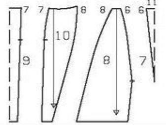 Ruha-stílusú színes blokkoló csináld magad - mintás szoknya