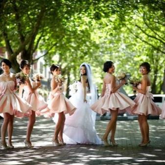 Vaaleanpunainen Bridesmaid-mekot