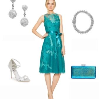 Acessórios de prata para vestido turquesa