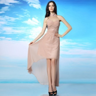 Flesh-colored dress for a date